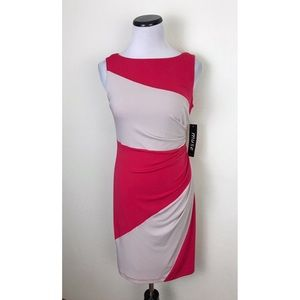 NWT Muse Sleeveless Stretch Colorblock Dress 4